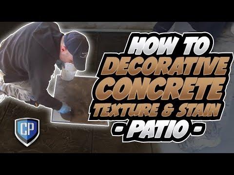 How To . . Decorative Concrete Texture & Stain - Patio