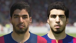 FIFA 15 vs PES 2015 Head to Head Faces - Barcelona