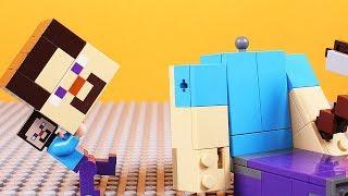 Lego Minecraft Steve Brick Building Big Steve Animation for Kids
