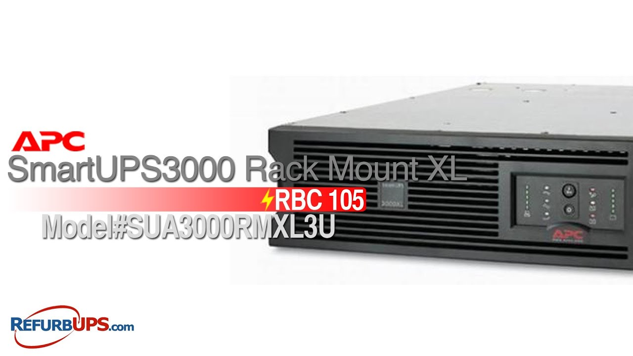 RBC 27 Battery Replacement for APC SmartUPS3000 Rack Mount XL