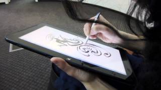 Рисование на планшете Samsung ATIV - gagadget(Рисование на планшете Samsung ATIV Smart PC Pro 700T при помощи стилуса. Художник: Оксана Смоляр. Монтаж видео: Виталий..., 2013-03-26T13:06:23.000Z)