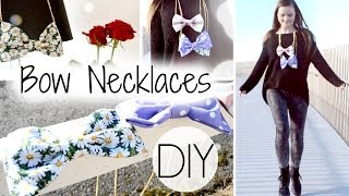 DIY Bow Necklaces Thumbnail