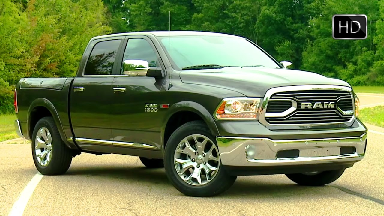 2017 dodge ram 1500 ecodiesel pickup truck exterior design road test drive hd youtube. Black Bedroom Furniture Sets. Home Design Ideas