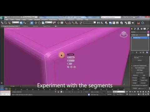 How to make round edges in 3ds max/ how to fillet edges