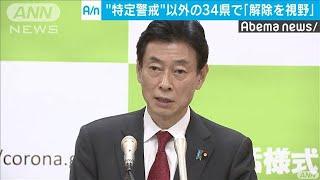 """西村大臣""""特定警戒""""以外の34県「解除が視野に」(20/05/10)"""