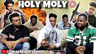 Blueface ft. NLE Choppa - Holy Moly (Official Video)REACTION!!