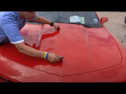 "Paint Overspray Removal of Texas ""repairs RS Chevy Camaro from paint overspray damage"""