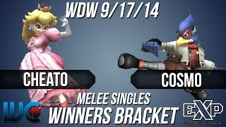 Wdw 9/17/14 - Cosmo (falco) Vs. Cheato (peach) Melee Winners Bracket
