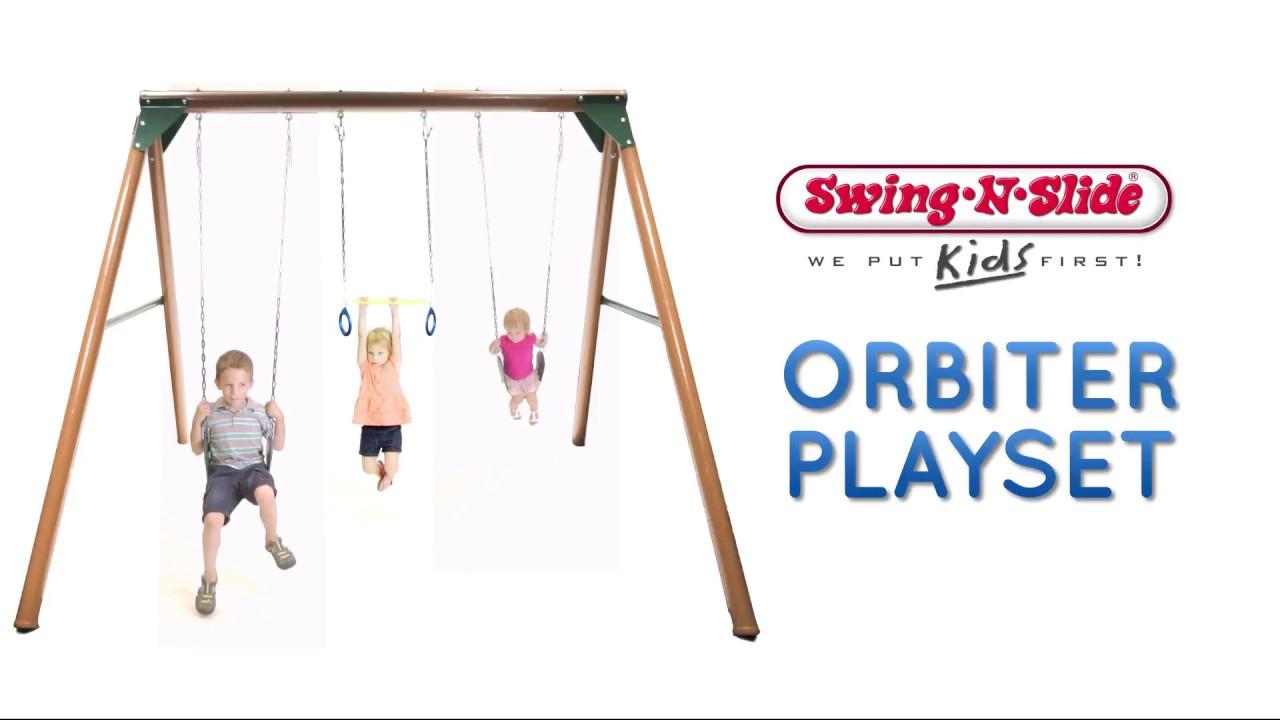 Swing N Slide Orbiter Swing Set Youtube