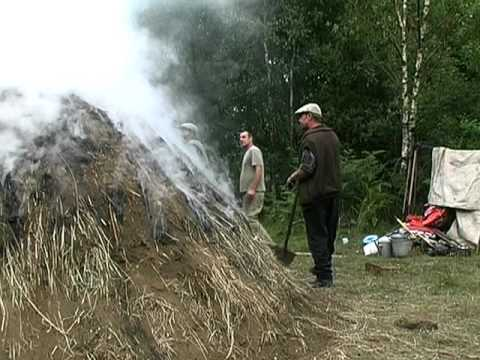 how to burn charcoal to die