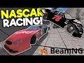 BIGGEST NASCAR RACE & CUSTOM RAMP MOD! - BeamNG Gameplay & Crashes - Jumps & Stunts