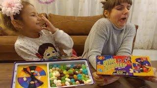 Bean boozled jelly bean kusmuklu kirli çorap kokulu sümüklü tatları olan şekerler kim şanslı