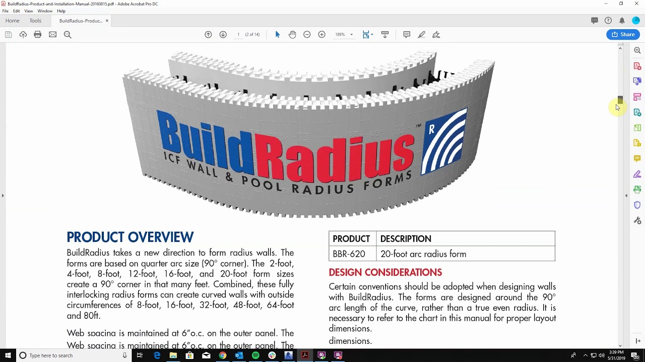 BuildRadius Wall & Pool ICF Radius Forms - BuildBlock