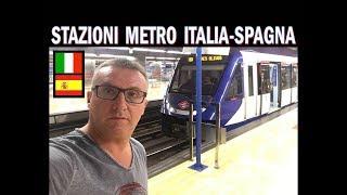 STAZIONI METRO ITALIA - SPAGNA ( Milano vs Madrid )