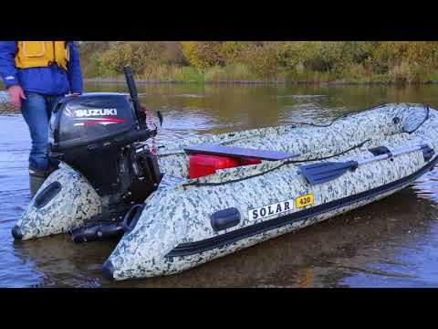 Тест-Драйв надувной моторной лодки SOLAR-420 Jet Tunnel VEGA