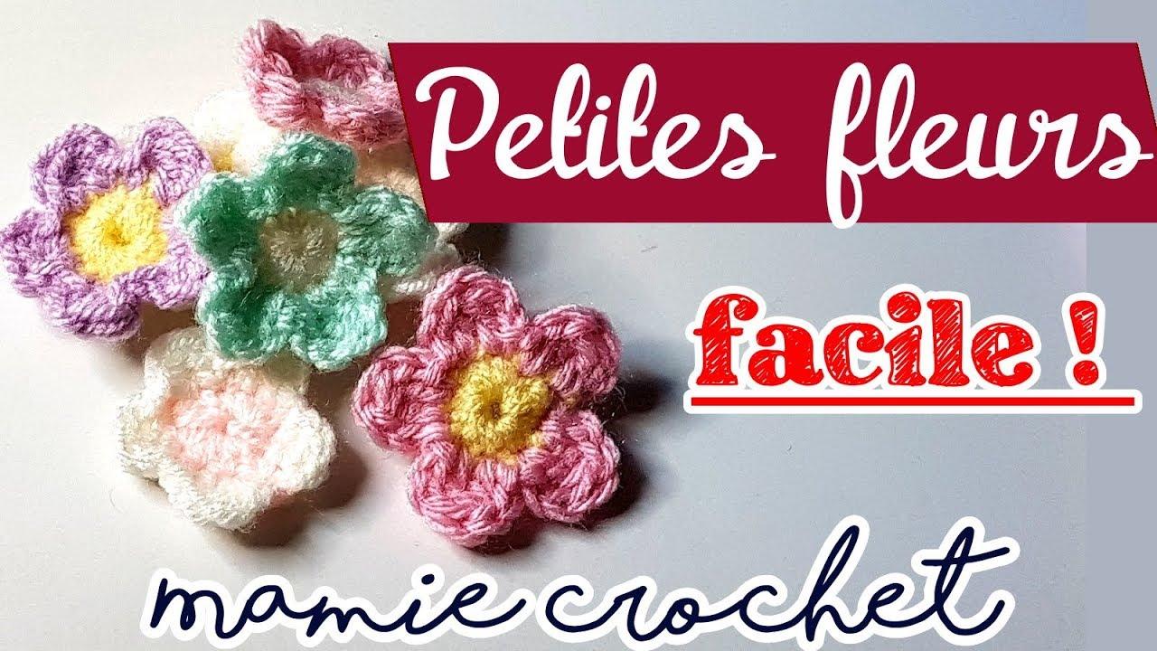comment faire des petites fleurs tres faciles et rapide au crochet pas a pas tuto diy