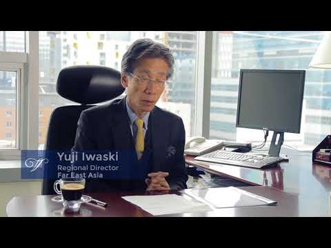 Yuji Iwasaki speaks about off-shore banking business by Vivier