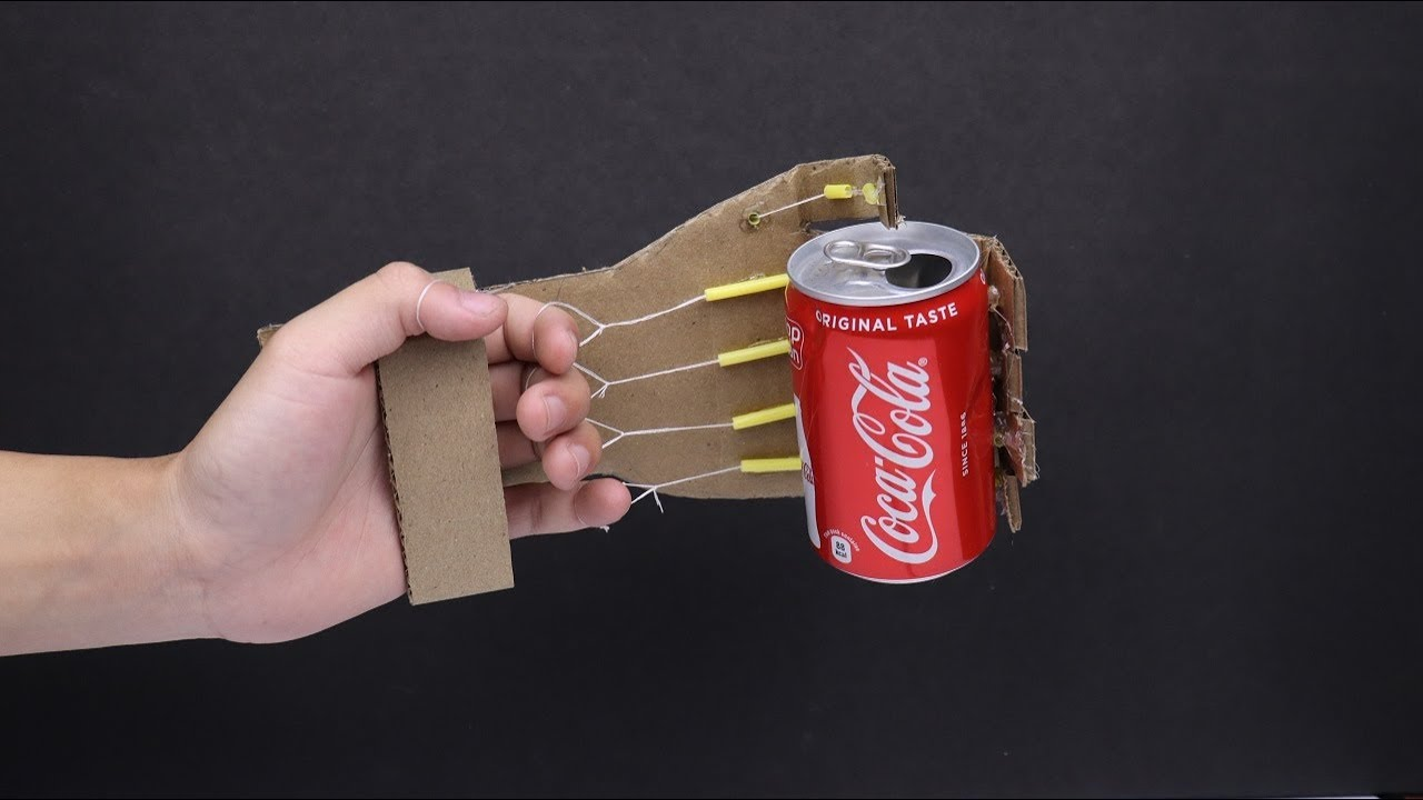 Make a Simple Robotic Arm From Cardboard   DIY