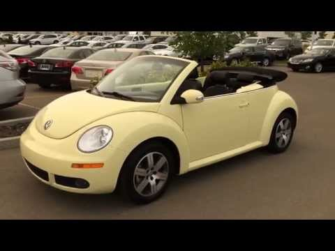 Pre Owned Yellow 2006 Volkswagen New Beetle Convertible 2dr 2.5L Manual - Red Deer, AB