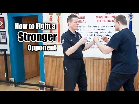 how to win a fight against someone stronger than you