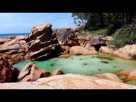 Seychellen 2017 La Digue Anse Caiman Seychelles Lonely Dream Beach 4K Hidden Natural Pool Gopro UHD