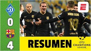 Dinamo Kyiv 0-4 Barcelona PALIZA, con GOL de Griezmann y DOBLETE de Braithwaite | Champions League