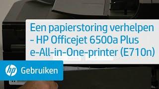 Een papierstoring verhelpen - HP Officejet 6500a Plus e-All-in-One-printer (E710n)