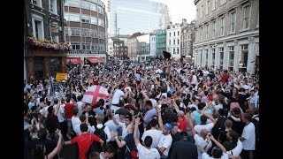 England fans in London watch World Cup game against Colombia – live!