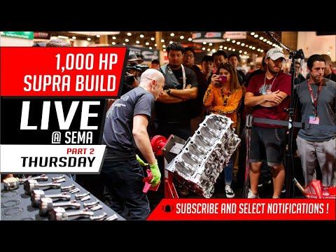 1,000 HP Supra build   Live @ Sema   Thursday