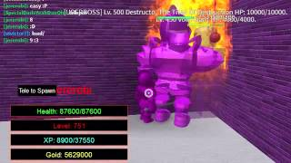 roblox knight's revenge rpg: ALL BOSS BATTLE! (lvl 5 to 750)