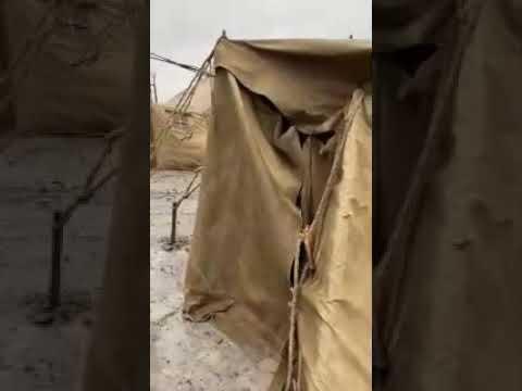 Поселили как скот: рабочих компании «Полюс Красноярск» с подозрением на COVID  загнали в палатках