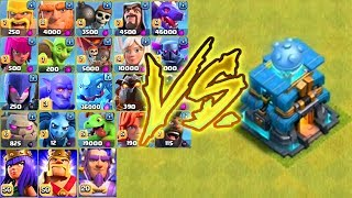 ALL NEW MAX LEVEL TROOPS vs MAX GIGA TESLA (TH12) - Clash of Clans Best Defence Ever?