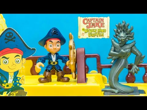 JAKE AND THE NEVERLAND PIRATES Disney Captain Jake Mighty Colossus Ships Toys Video Unboxing