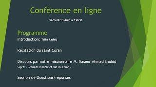 Jésus de la Bible et Issa du Coran (Conférence)