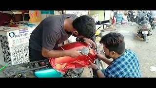 modification Yamaha rx100 Tank Wrapping #FriendsRadiumArt