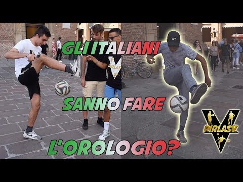 Gli ITALIANI Sanno Fare L'OROLOGIO? - Trick Di CALCIO Tra La Gente ● Interviste Ignoranti w/FOOTWORK