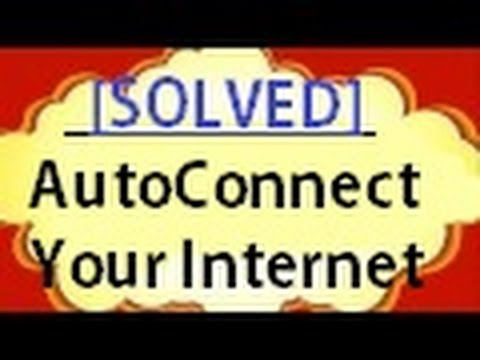 [Solved] Automatically Connect internet fully auto connect and disconnect internet script