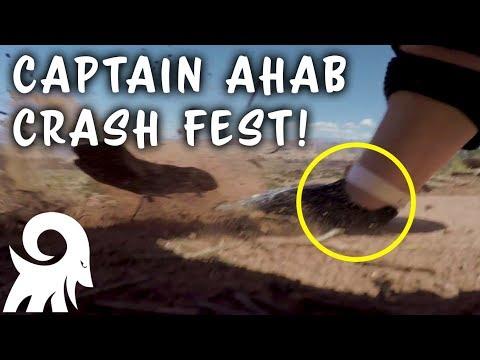 Is My Wrist Broken? | Captain Ahab Crash Fest! | Mountain Biking Moab, Utah | Magnificent Moab Ep 3