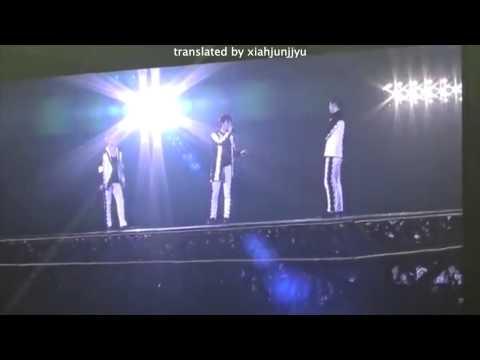 [ENG SUB] 141223 JYJ in Fukuoka - Talk ment (Junsu's first love story)