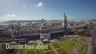 Beautiful Dunedin, New Zealand, from above! In 4K!