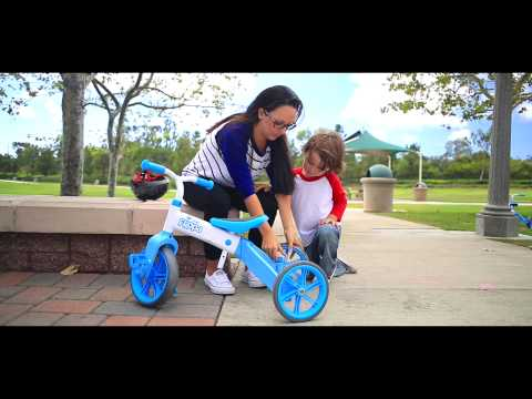 The Yvolution Y Velo Flippa - 2in1 Tricycle to Balance Bike