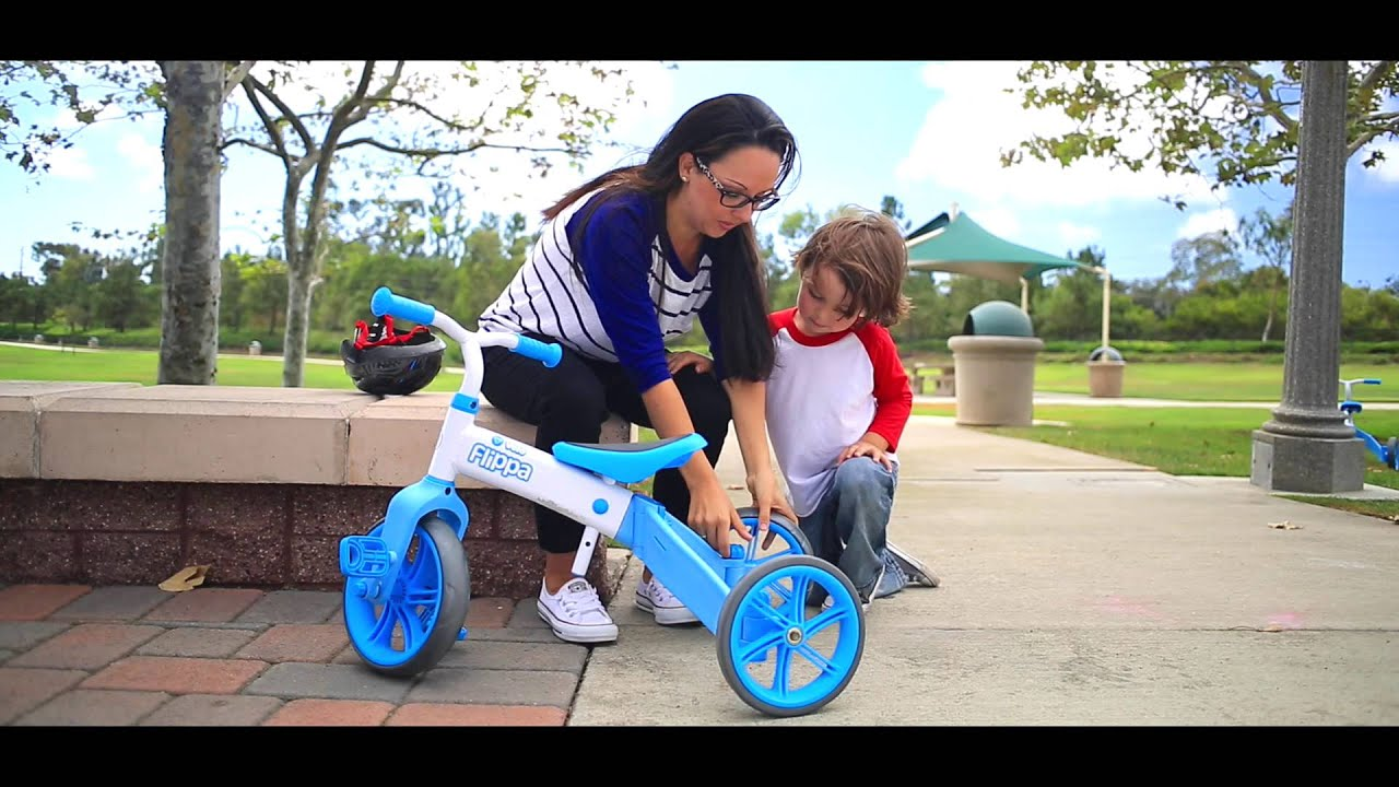 ce654500f38 The Yvolution Y Velo Flippa - 2in1 Tricycle to Balance Bike - YouTube