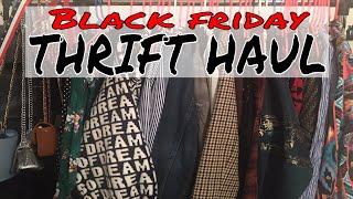 MASSIVE Black Friday Thrift Haul & Everything I got for $1! | Goodwill Thrift Haul