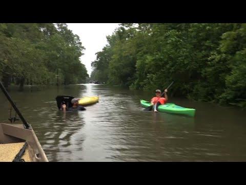 Flooding Devastates Parts of Dickinson, Texas