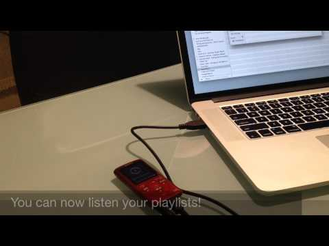 Transfer playlists from iTunes to Sony Walkman MP3 player