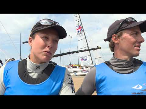 ISAF World Cup Weymouth - Matias Bühler & Nathalie Brugger NACRA17