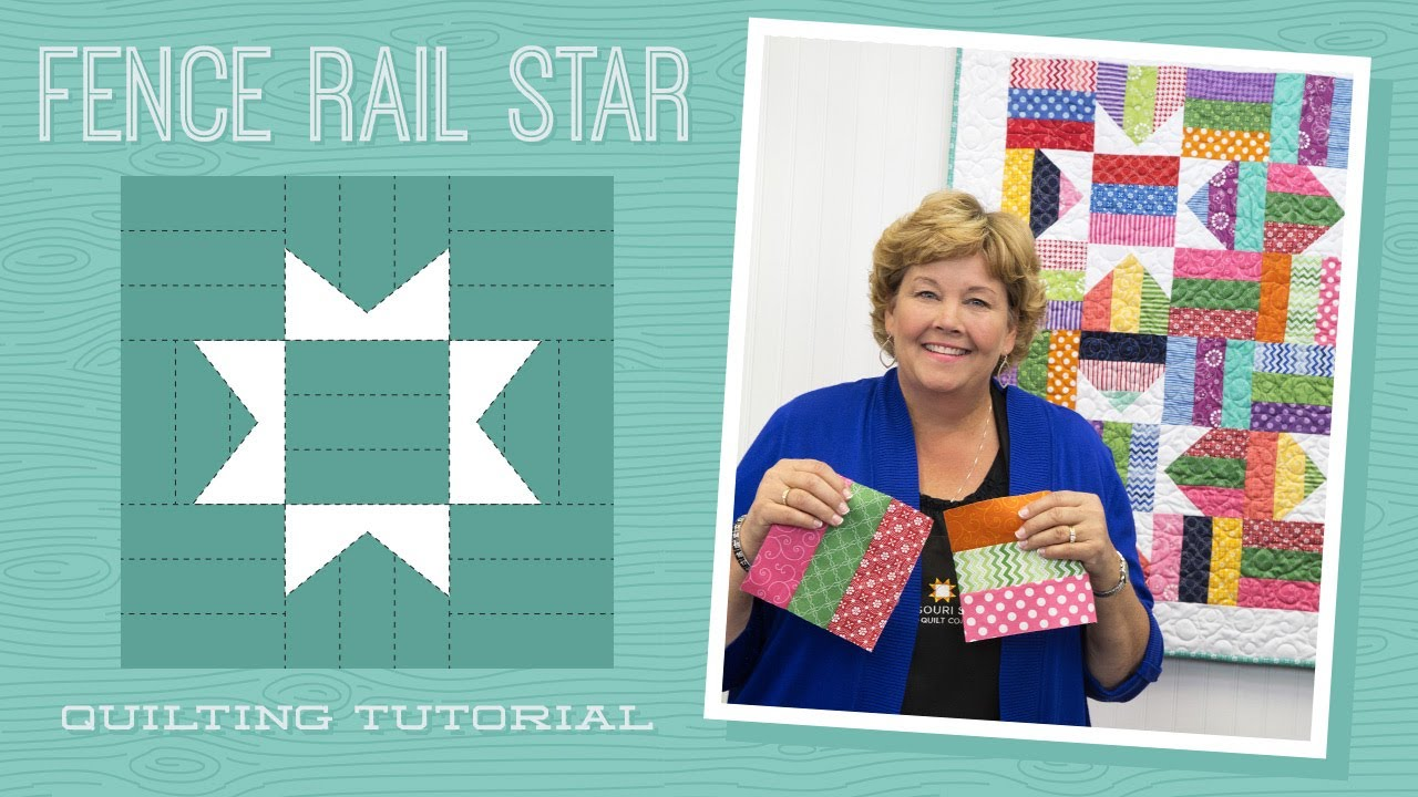 Make a Fence Rail Star Quilt with Jenny! - YouTube : fence rail quilt pattern instructions - Adamdwight.com