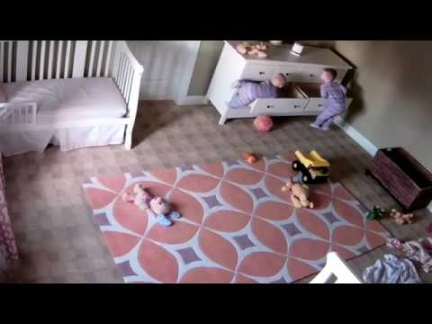 Two year old miraculously saves twin brother (full video)