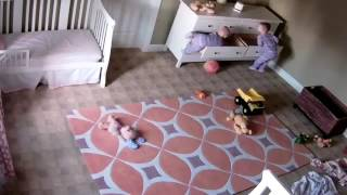 Two year old miraculously saves twin brother (full video) thumbnail