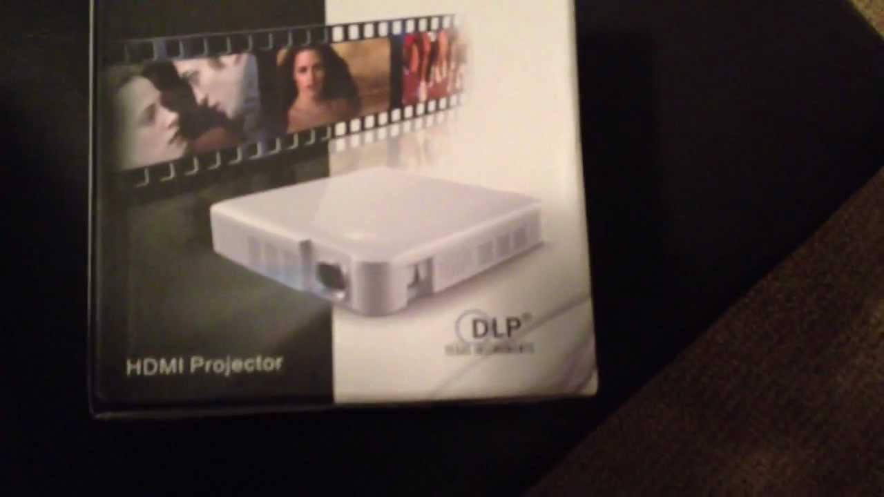 Brookstone hdmi pocket projector by telstar youtube for Pocket projector reviews